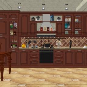 美式厨房su模型下载